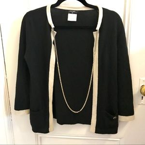 AUTHENTIC CHANEL Cashmere Sweater with Chain